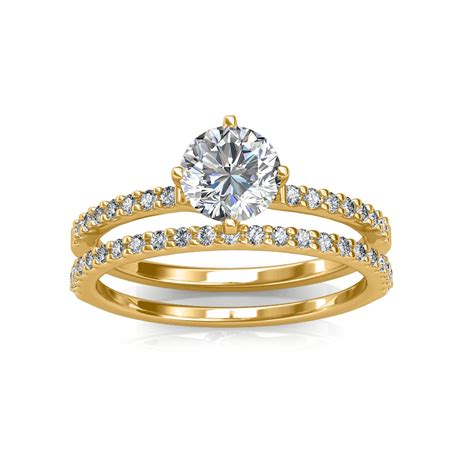engagement ring wedding band solitaire diamond rings