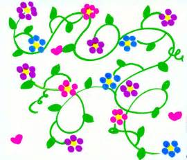 Cartoon Flowers with Vines