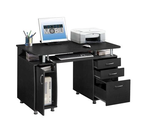 new home computer workstation desk with file drawer storage espresso ebay