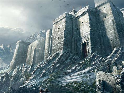 ap game illustration castle snow winter wallpaper
