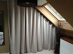 Fil Tringle Rideau : tringle rideau sous pente comble http ~ Premium-room.com Idées de Décoration