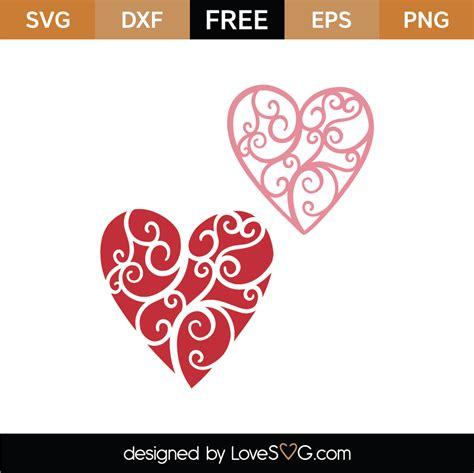 Free svg image & icon. Free Flourish Hearts SVG Cut File   Lovesvg.com