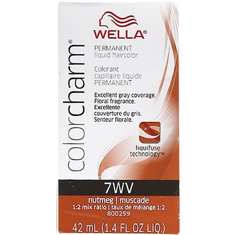 nutmeg hair color wella color charm liquid haircolor 7wv nutmeg 1 4 oz