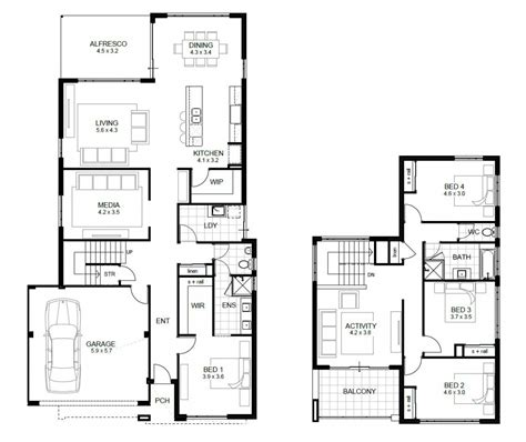 single 4 bedroom house plans the most 4 bedroom house designs perth single and