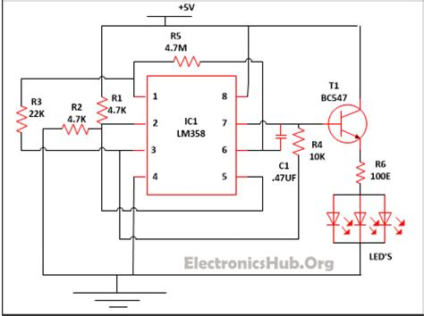 Led Lamp Dimmer Project Circuit Diagram Working