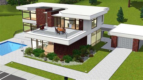 Modern House Floor Plans For Sims 3