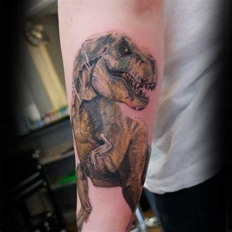dinosaur tattoo designs  men prehistoric ink ideas