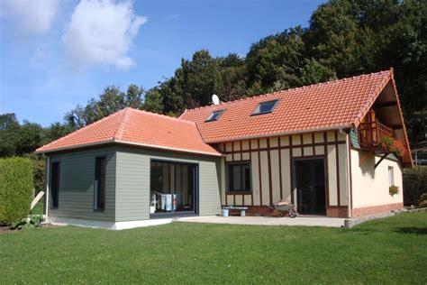 maison en bois calvados extension ossature bois sur maison normande gt djsl bois