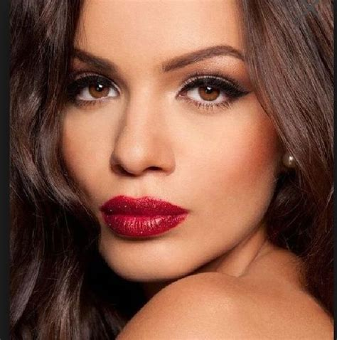 wedding makeup   sultry red lip  seductive cat eye