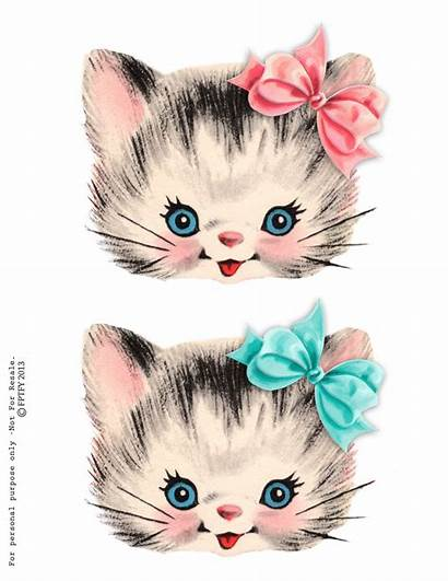 Kitty Clipart Cat Clip Kitten Retro Printable