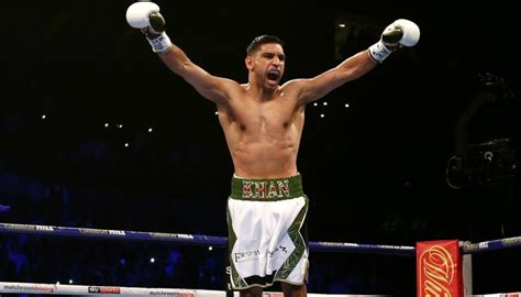 amir khan  blistering return  ring