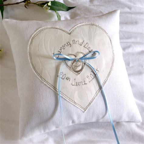 personalised wedding ring pillows uk personalised wedding ring pillow by milly and pip notonthehighstreet com