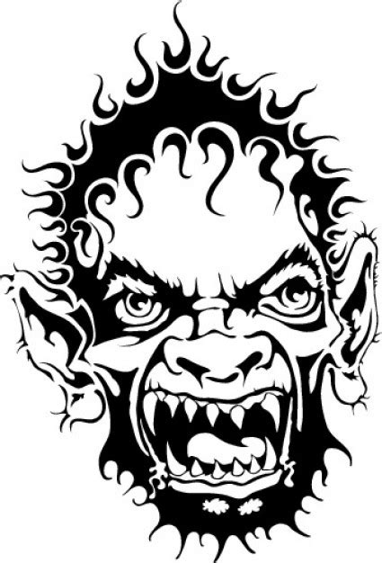 graphics horrible clip art monster face clip art