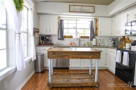 diy kitchen island  desk farmhouse style