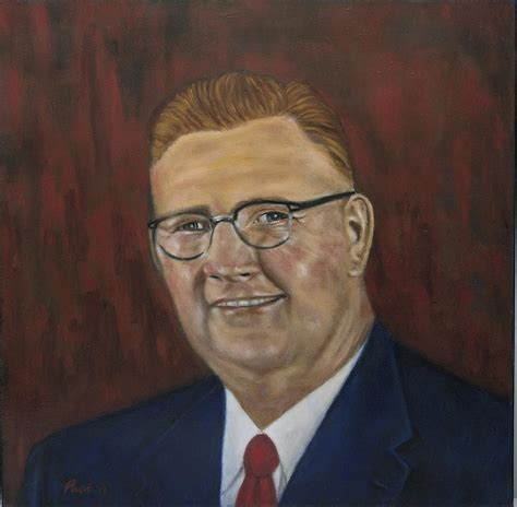 Donald G. Bollinger Painting by Bruce Ben Pope