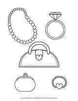 Coloring Pages Bracelet Purse Necklace Printable Pearl Ring Heart Diamond Coin Stylish Jewelry Bracelets Necklaces Earrings Jewellery Wedding Enjoy Getcolorings sketch template