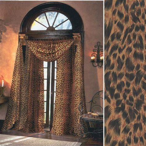 leopard print curtains drapes leopard sheer curtains 59 inches wide by 84 inches