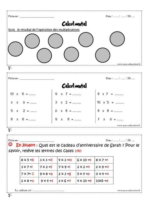 calcul mental tables de multiplication calcul mental tables de multiplication 28 images calcul mental cm1 exercice et bilan semaine
