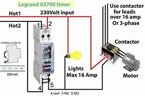 Single Phase Timer And Contactor Wiring Diagram
