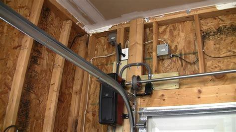 garage door opener installation liftmaster 8500 jackshaft complete install doovi