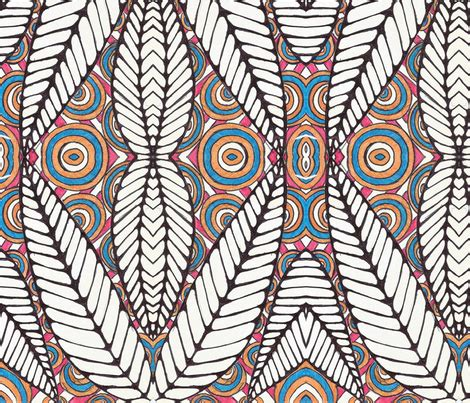 tribal colors tribal leaf black white and multi color wallpaper