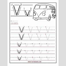 Printable Letter V Tracing Worksheets For Preschool  Alphabet  Pinterest  Tracing Worksheets