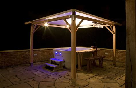 This airy enclosure provides both privacy and a degree of protection from the elements, and allows this hot tub easy accessibility all year round. 40+ Hot Tub Enclosure Ideas in 2020