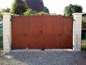 Portail Bois 4m : forum travaux bricolage probl me portail 2 vantaux en ~ Premium-room.com Idées de Décoration
