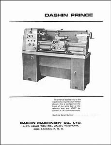 Dashin Prince 12 Inch Lathe Manual Parts  U0026 Operation