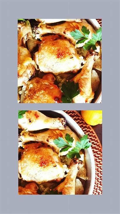 Chicken Garlic Lemon Potatoes Onions Onion