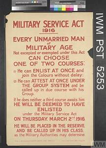 Design Text Over Image Military Service Act 1916 Every Unmarried Man Of