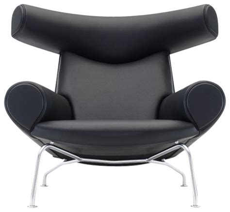 modern black accent chair wegner ox chair black leather modern armchairs and