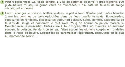 cuisiner congre recette congre à la bretonne facile et rapide