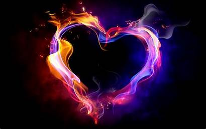 Fire Heart Smoke Effects Computer Flame Shape