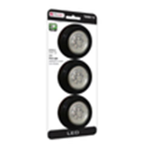 shop utilitech 3 pack 2 75 in battery puck lights at lowes