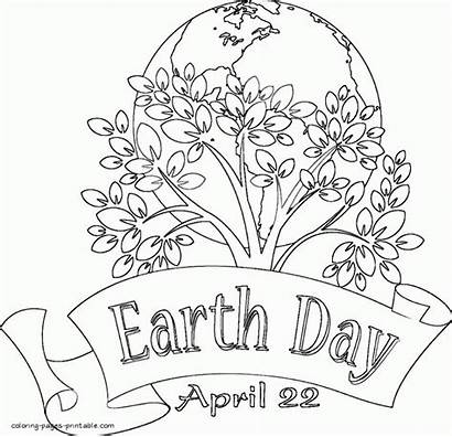 Earth Coloring Printable Sheets Adults April Activities