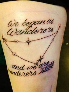 New tattoo of capricorn constellation and a quote ...