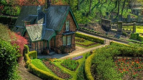 english cottage  garden hd wallpaper background image