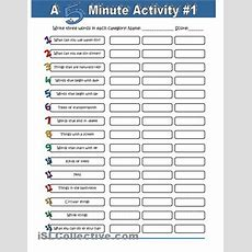 A 5 Minute Activity #1 Worksheet  Free Esl Printable Worksheets Made By Teachers  We Love