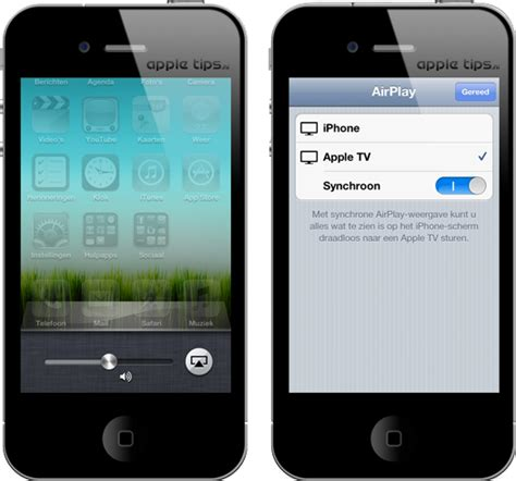 where is airplay on iphone 5 iphone 4s synchrone airplay weergave activeren appletips