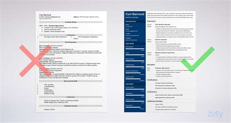 machine operator resume sample job description