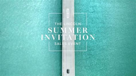 lincoln summer invitation sales event tv commercial