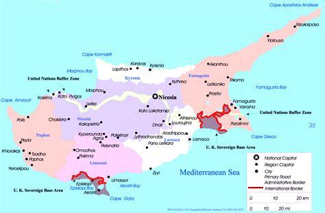 map cyprus