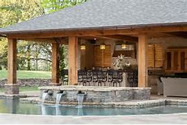 Rustic Mississippi Pool House Landscaping Network This Outdoor Living Area Is Any Water Lovers Dream Complete With An Southern Outdoor Living Pool Cabana With Bathroom And Outdoor Sunken Sitting Area Designs In The Pool For Your Utmost Relaxation
