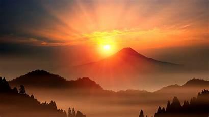 Fuji Sunrise Japan Bing Peapix Mount Mt