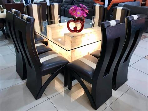 comedor  sillas cristal onix comedores moderno