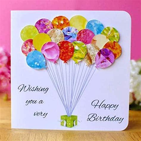 handmade birthday card colourful balloons mum daughter