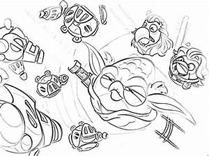 How to Draw Angry Bird Pigs Coloring Pages | Bulk Color