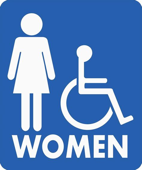 printable handicap bathroom signs printable handicap sign clipart best