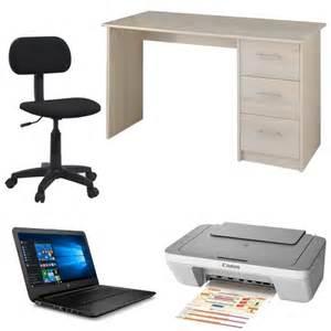ensemble bureau chaises de bureau imprimante canon ordinateur portable hp 14 quot achat